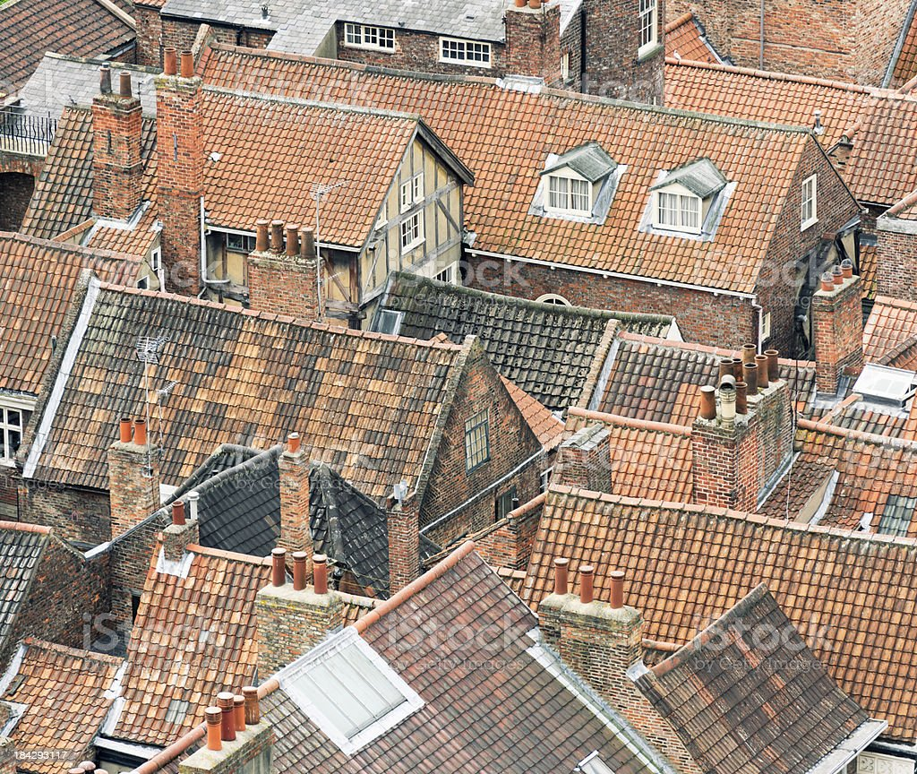 Old English Rooftops royalty-free stock photo