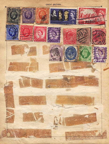 Old English Stamps  affix stock pictures, royalty-free photos & images