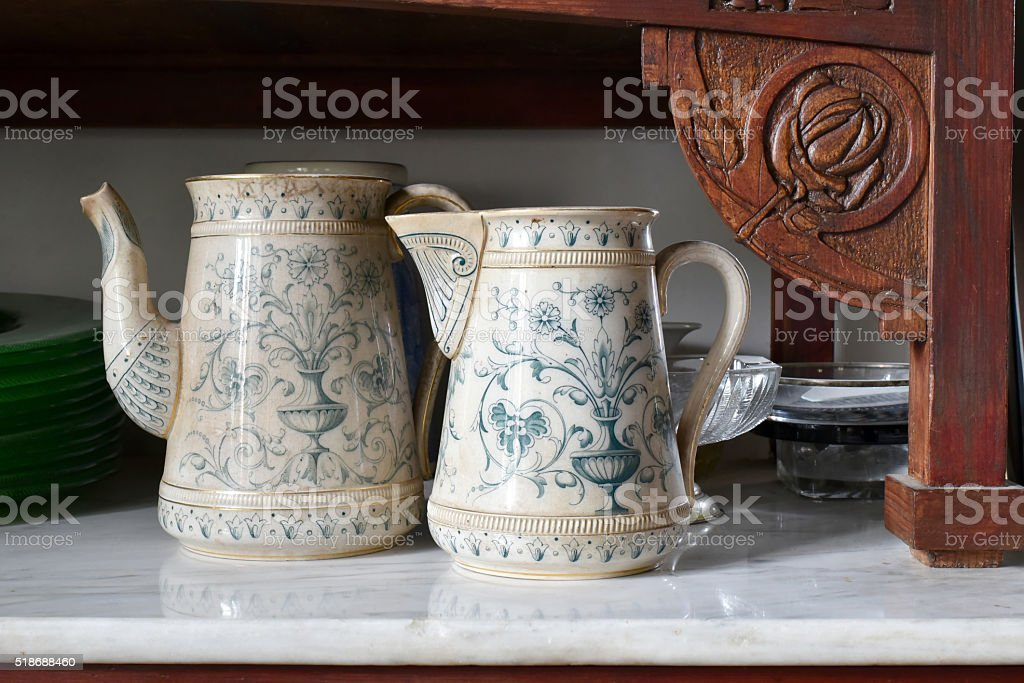 old English tea from ceramics stock photo
