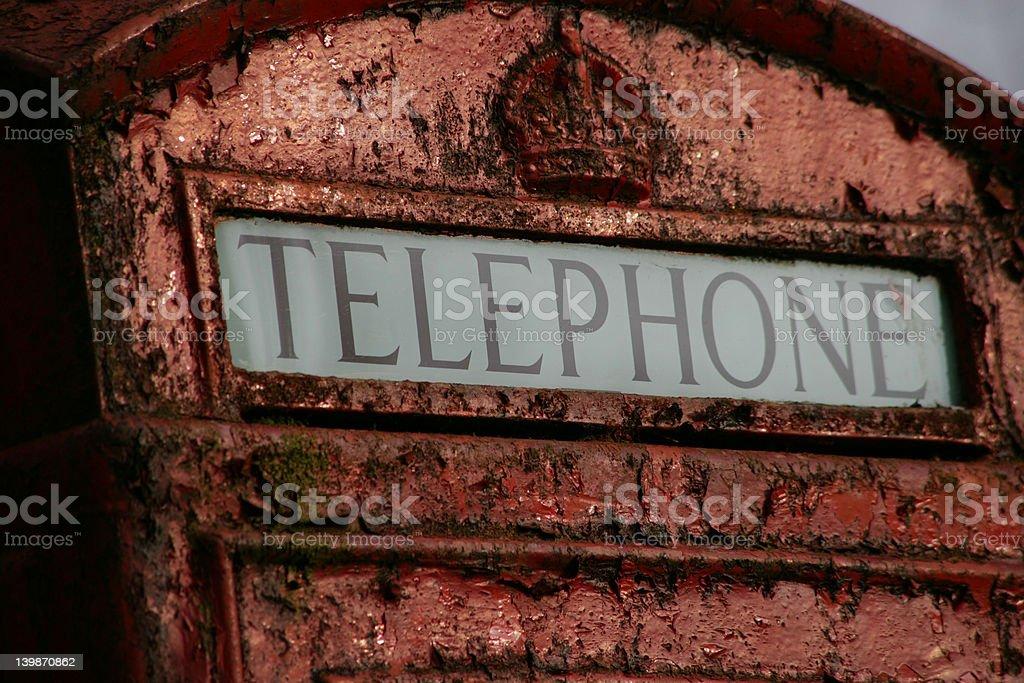Old English telephone box royalty-free stock photo