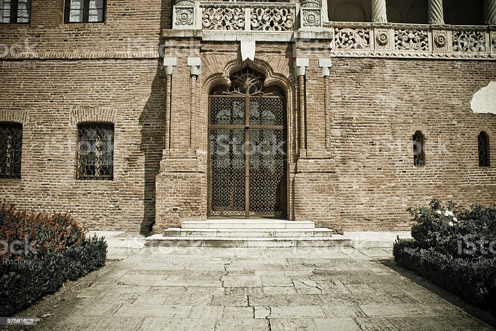 Old entrance to the Mogosoaia Palace from Romania royalty-free stock photo