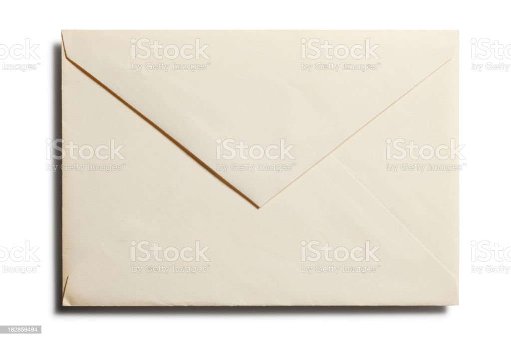 Old Envelope - Back royalty-free stock photo