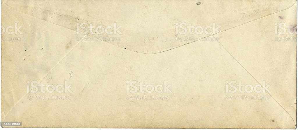 old envelope royalty-free stock photo
