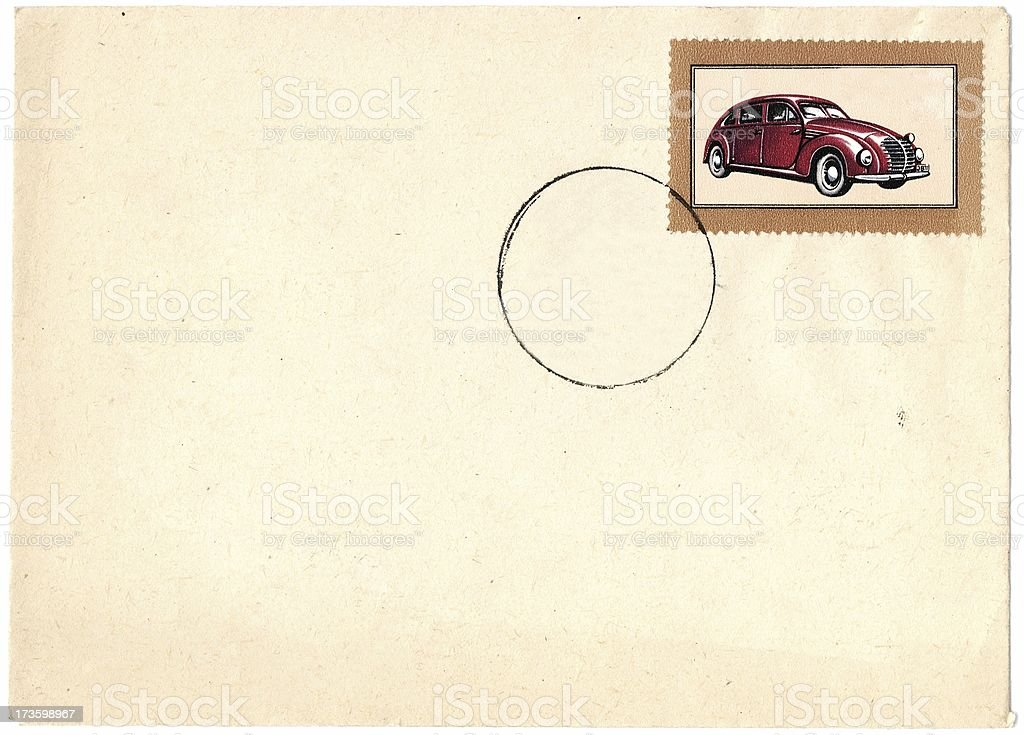 Old envelope with stamp royalty-free stock photo