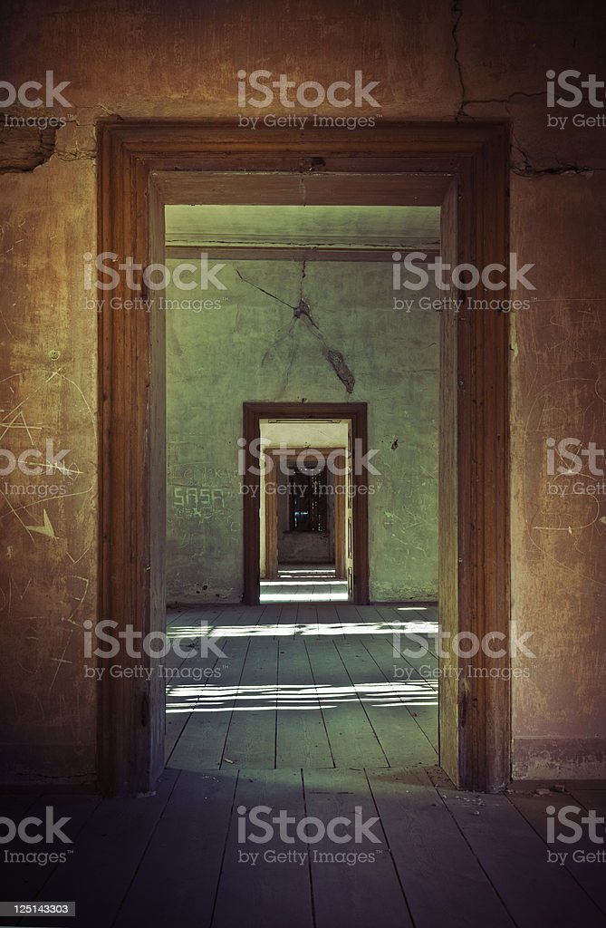 Old European castle interior royalty-free stock photo