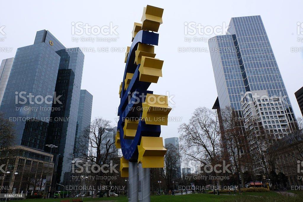 Old European Central Bank stock photo