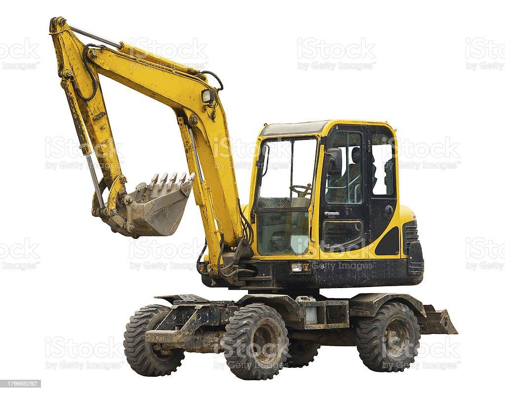 Old excavator royalty-free stock photo