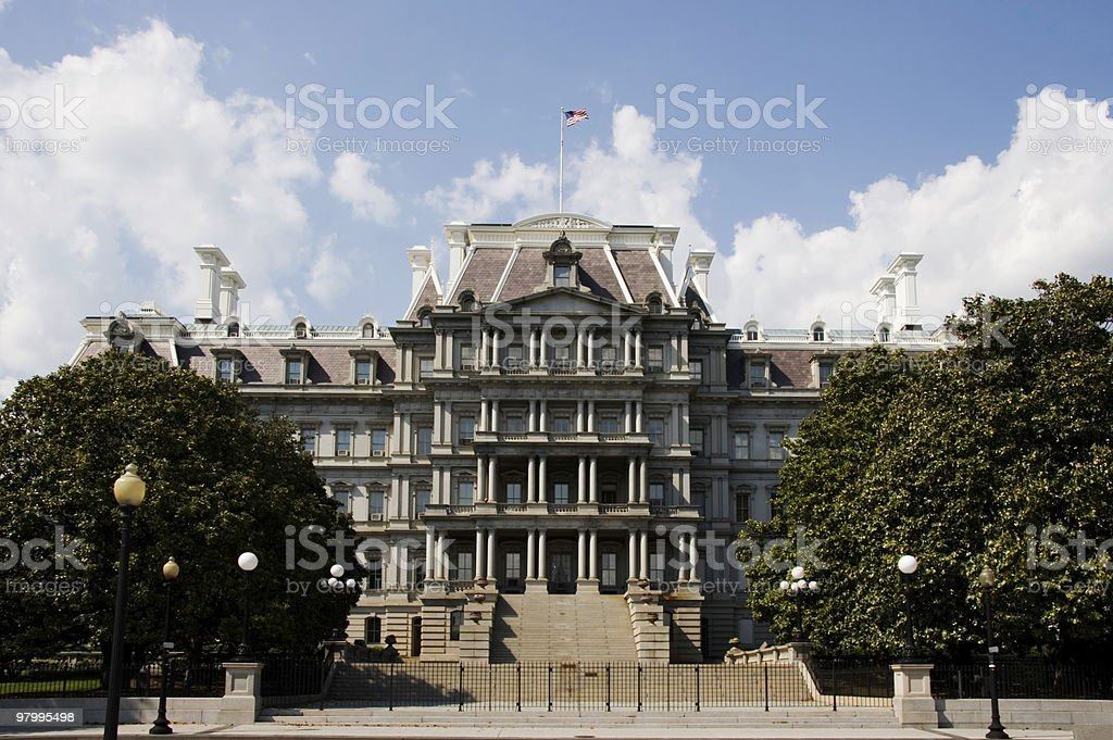 Old Executive Office Building royalty-free stock photo