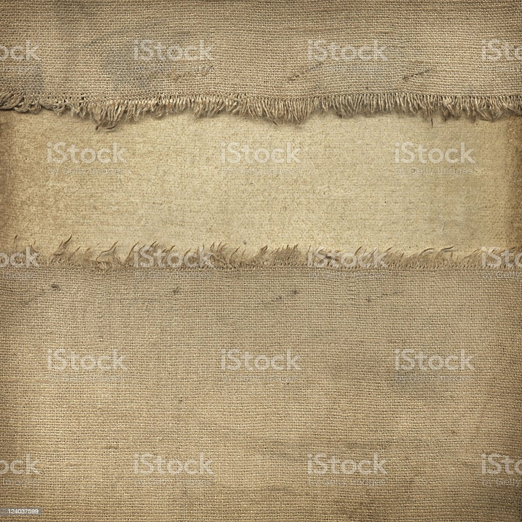 Old fabric and paper stock photo