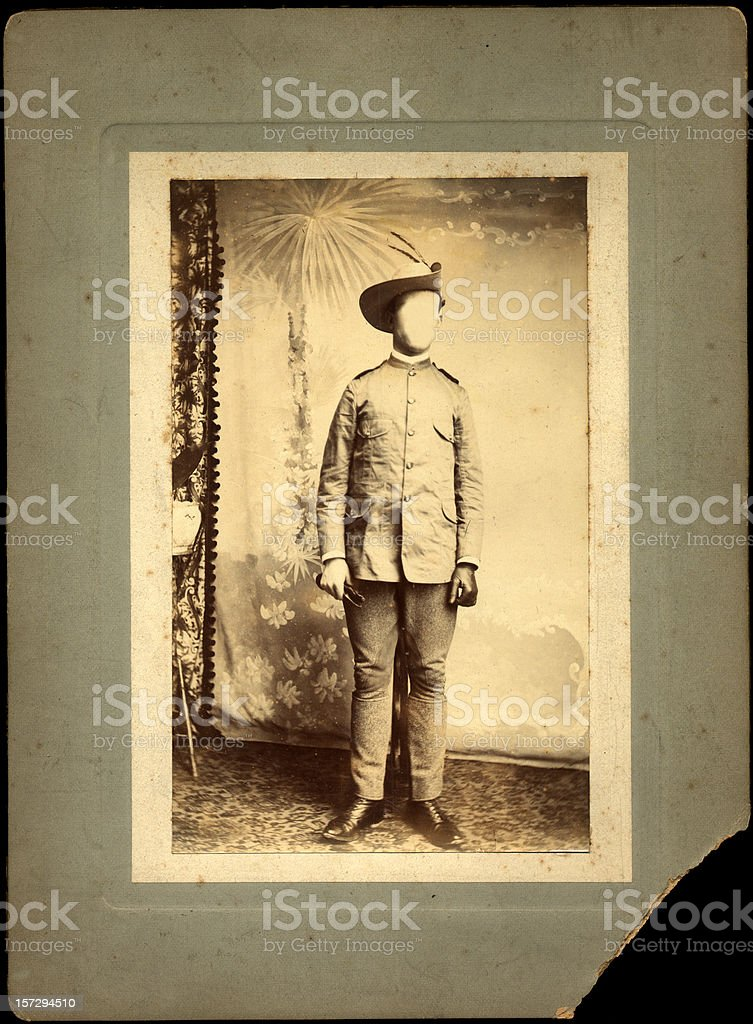 old faceless gent photo royalty-free stock photo