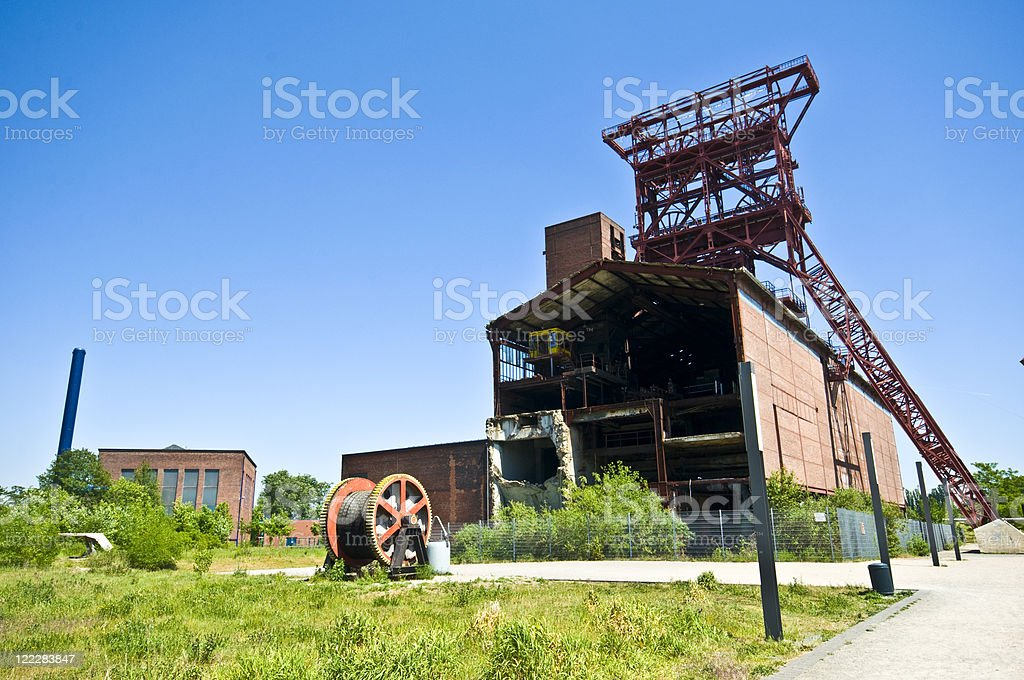 Old factory and equipment in zeche stock photo
