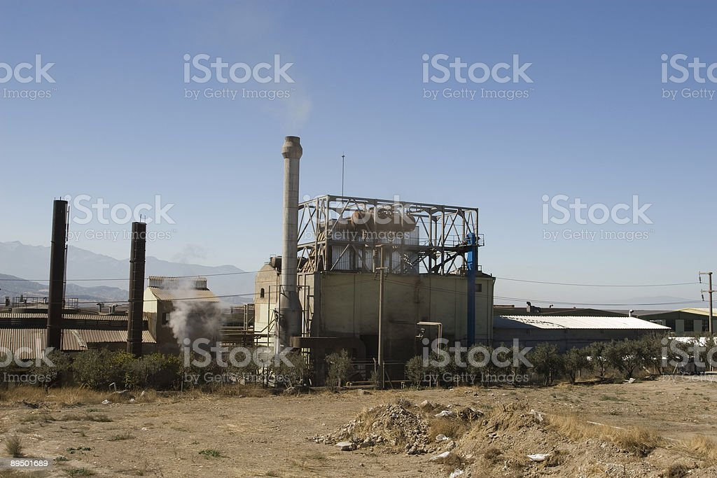 old factory building and chimneys royalty-free stock photo
