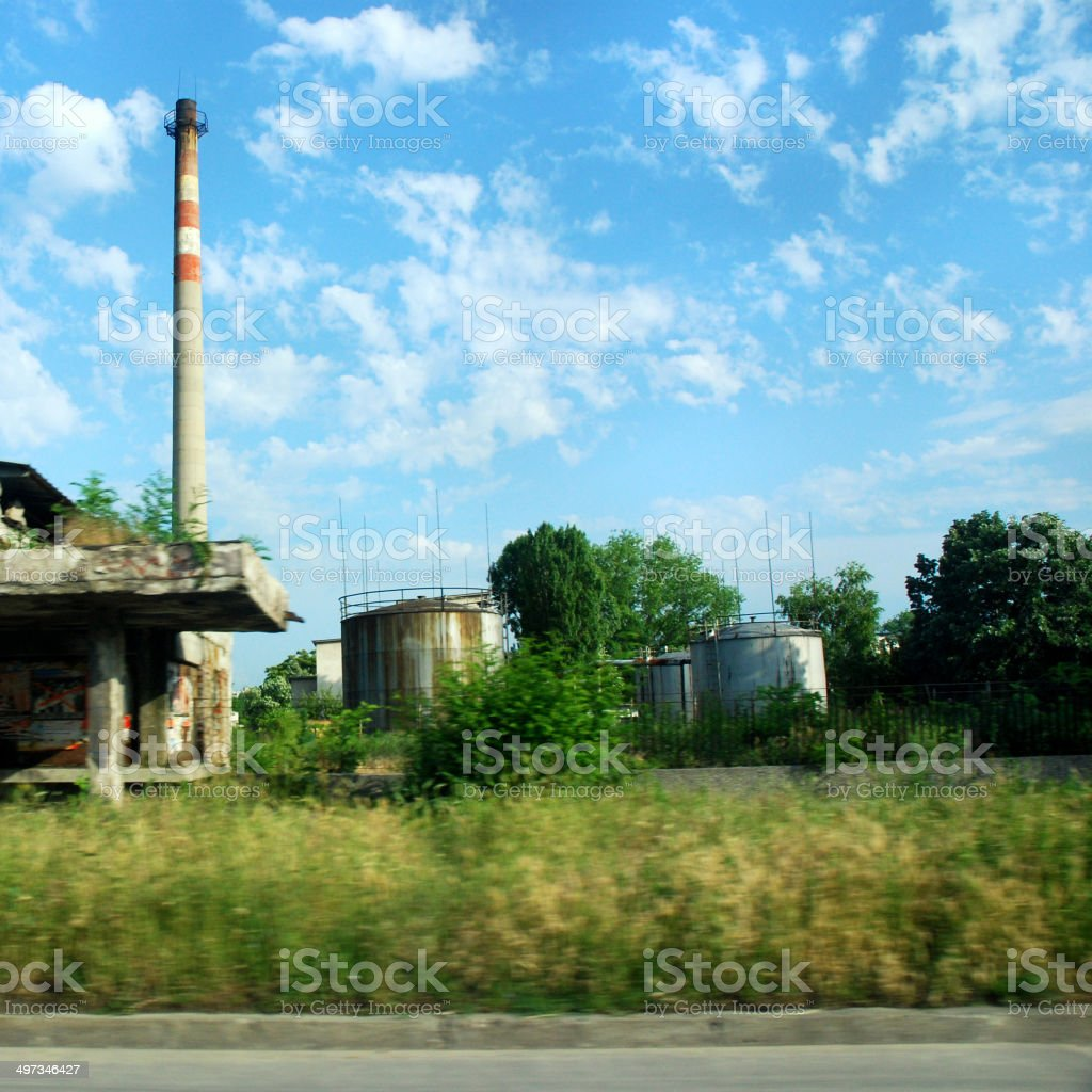 Old factory chimney royalty-free stock photo