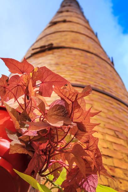 alten fabrik schornsteine - purdue university stock-fotos und bilder