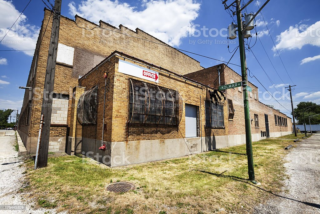 Old Factory in Archer Heights, Chicago royalty-free stock photo