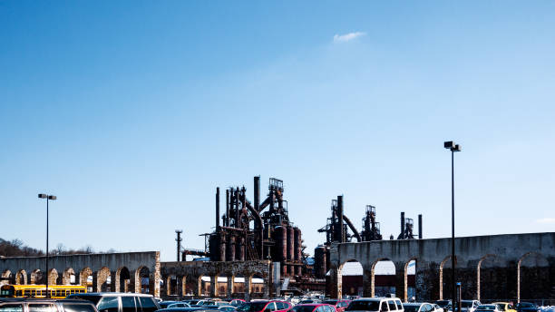 Old factory in  Bethlehem, PA stock photo