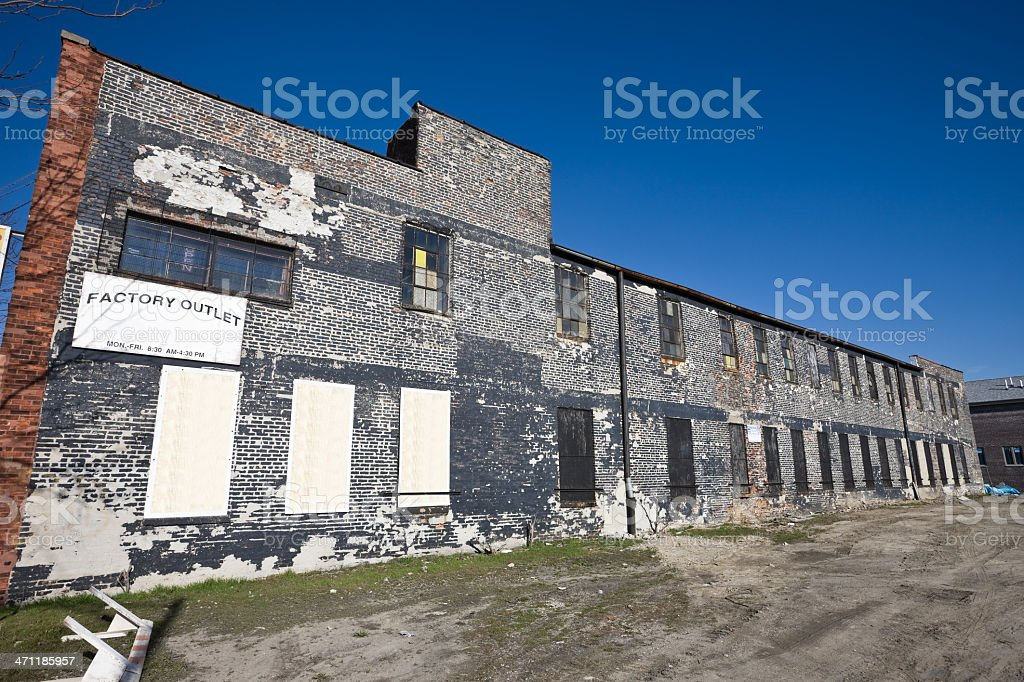Old Factory in Bridgeport Chicago royalty-free stock photo