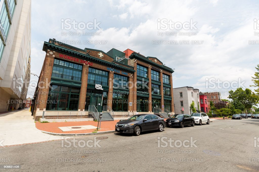 Old factory in Washington D.C., now used as offices. stock photo