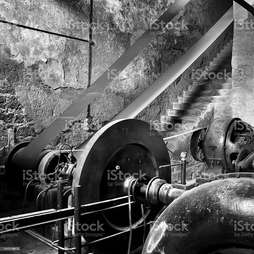old factory interior royalty-free stock photo