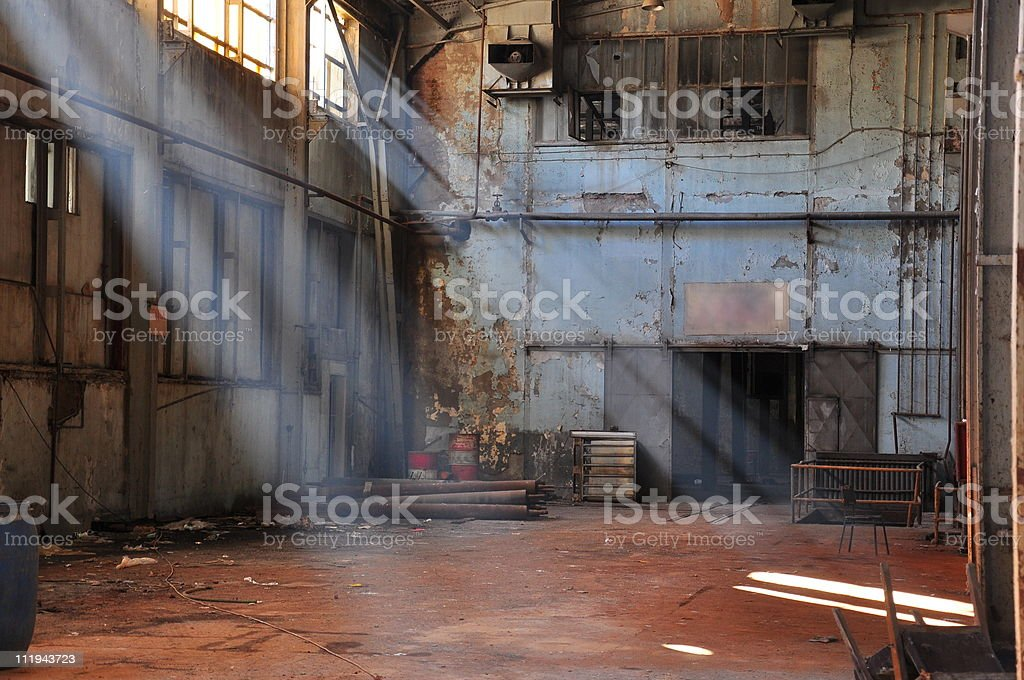 old factory (warehouse) stock photo