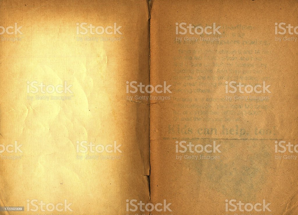 old faded book opening pages royalty-free stock photo