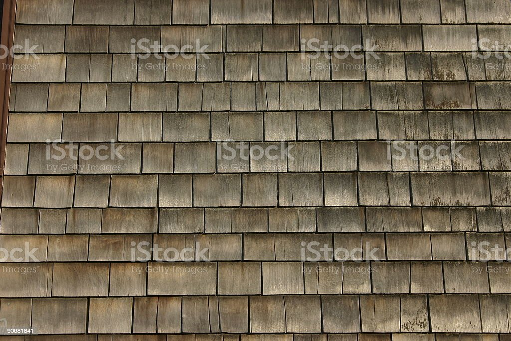 Old Faded Wooden Siding royalty-free stock photo