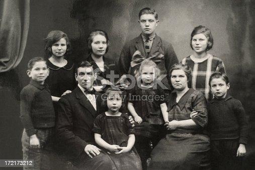 57520540 istock photo Old family photo 172173212
