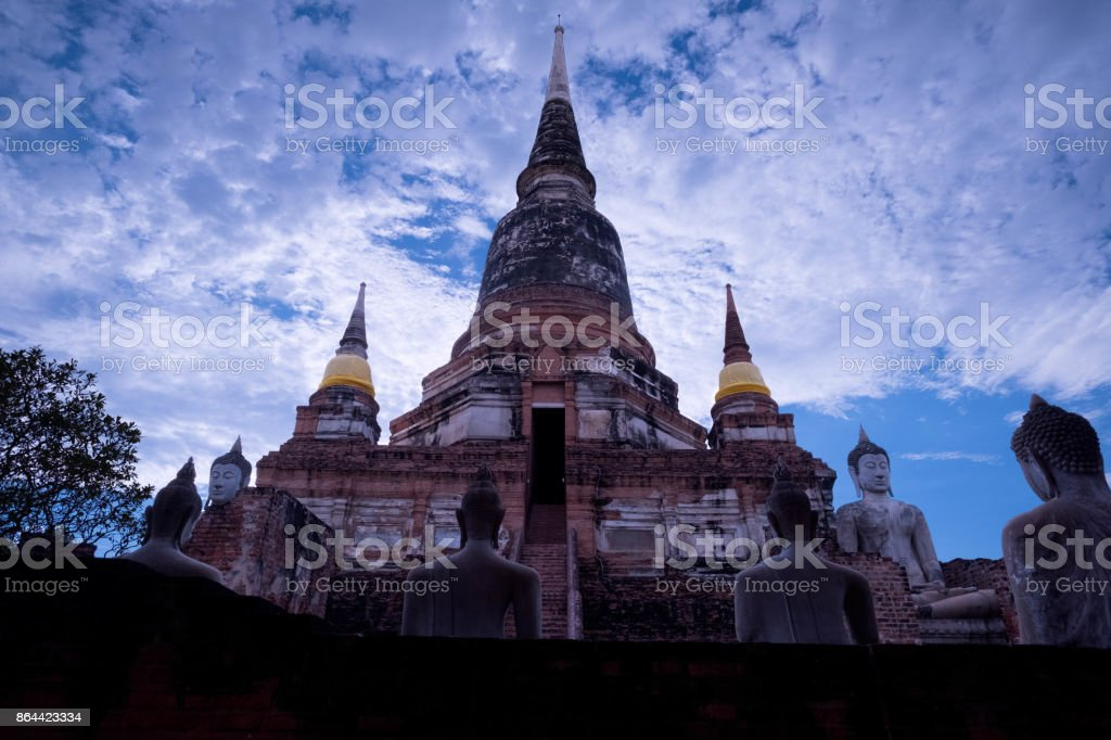 Old famous temple in Thailand stock photo