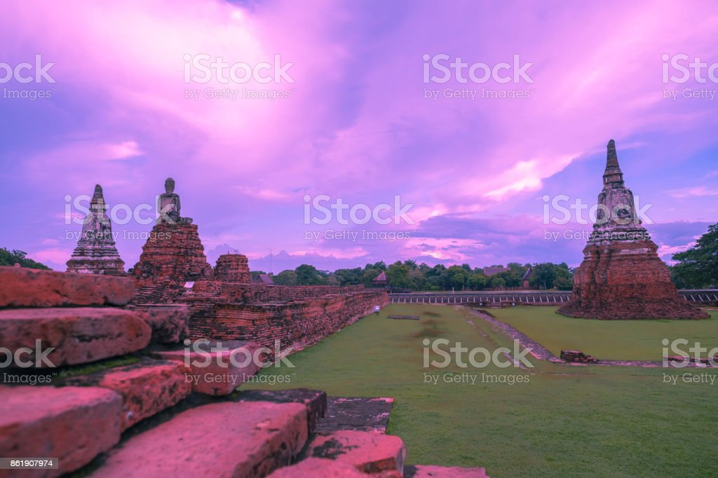 Old famous temple in Thailand / world heritage stock photo