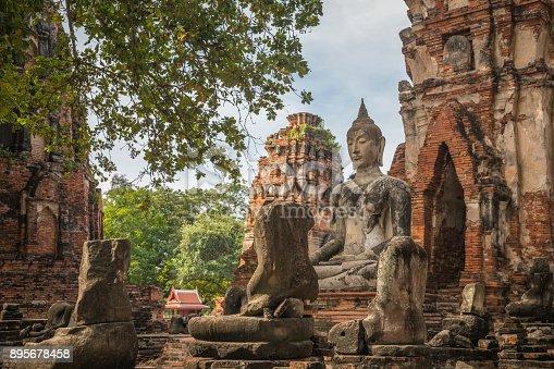Asia, Ayuthaya, Thailand, Wat Yai Chai Mongkhon, Ancient
