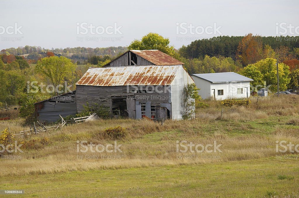 Old Farm Buildings - Royalty-free Agricultural Field Stock Photo