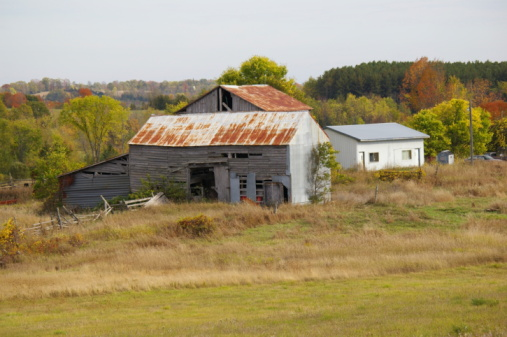 Old Farm Buildings Stock Photo - Download Image Now