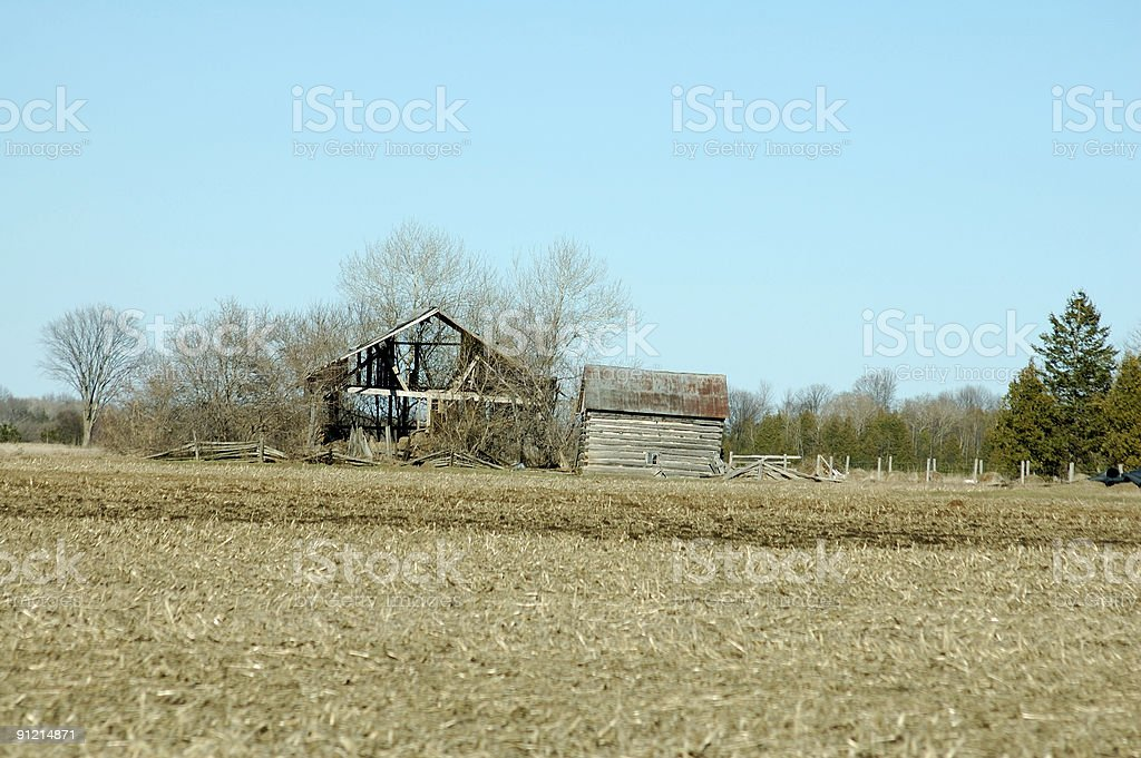 Old Farm Buildings royalty-free stock photo