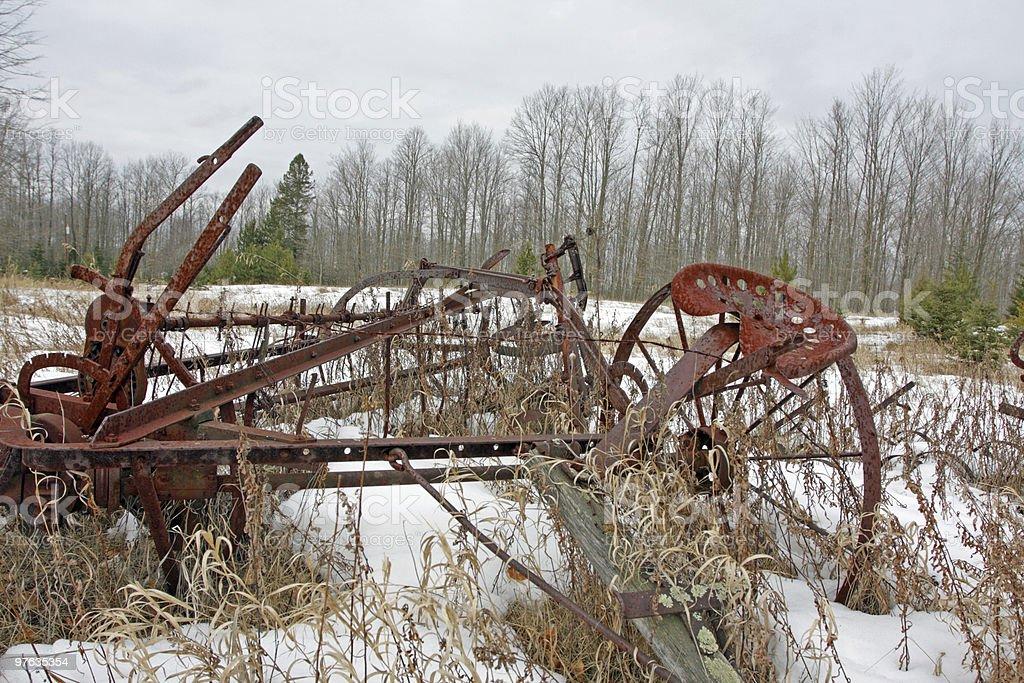 Old Farm Equipment stock photo