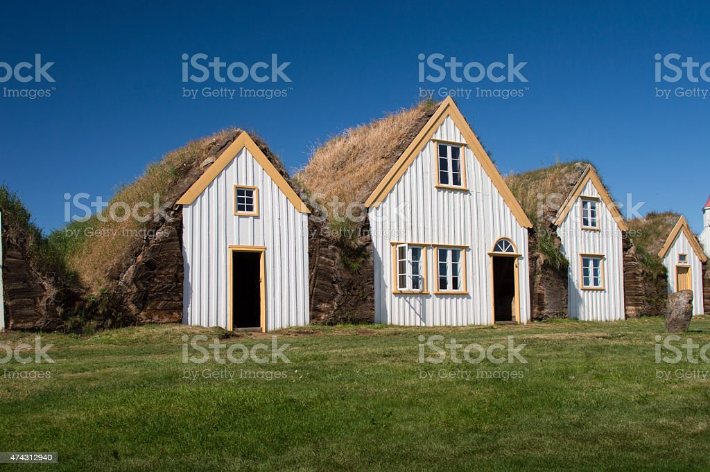 Old farm house in Iceland stock photo