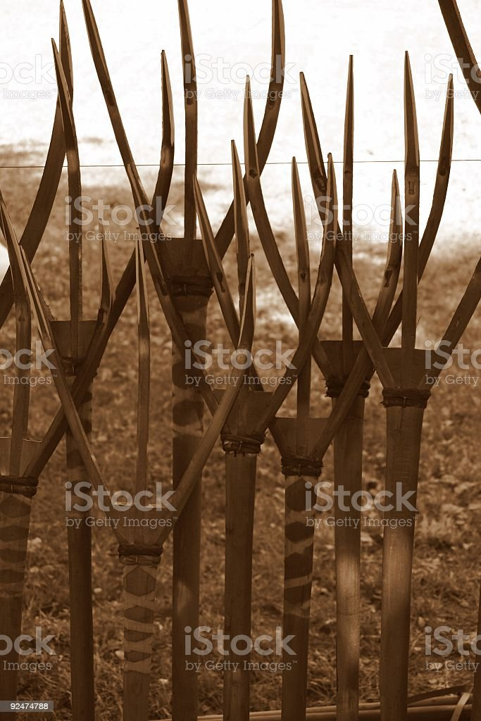 Old Farm Pitchforks royalty-free stock photo