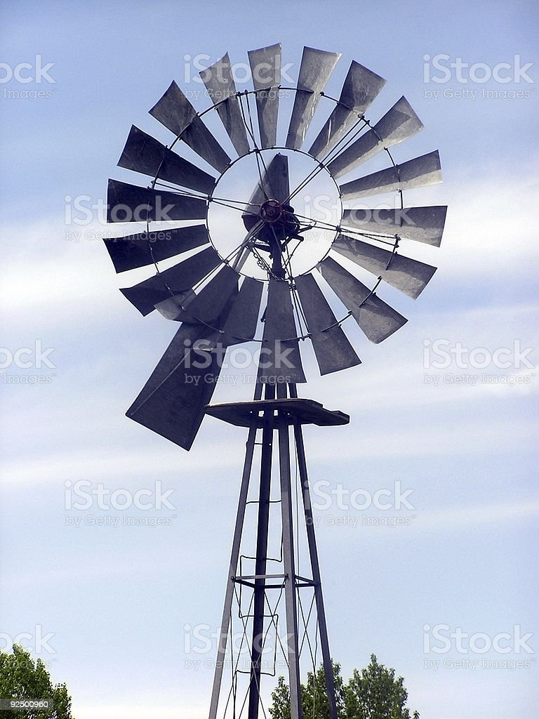 Old Farm Windmill royalty-free stock photo
