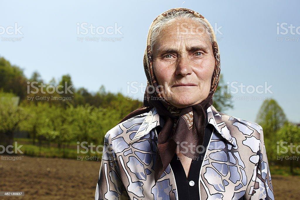 Vieux paysan femme - Photo
