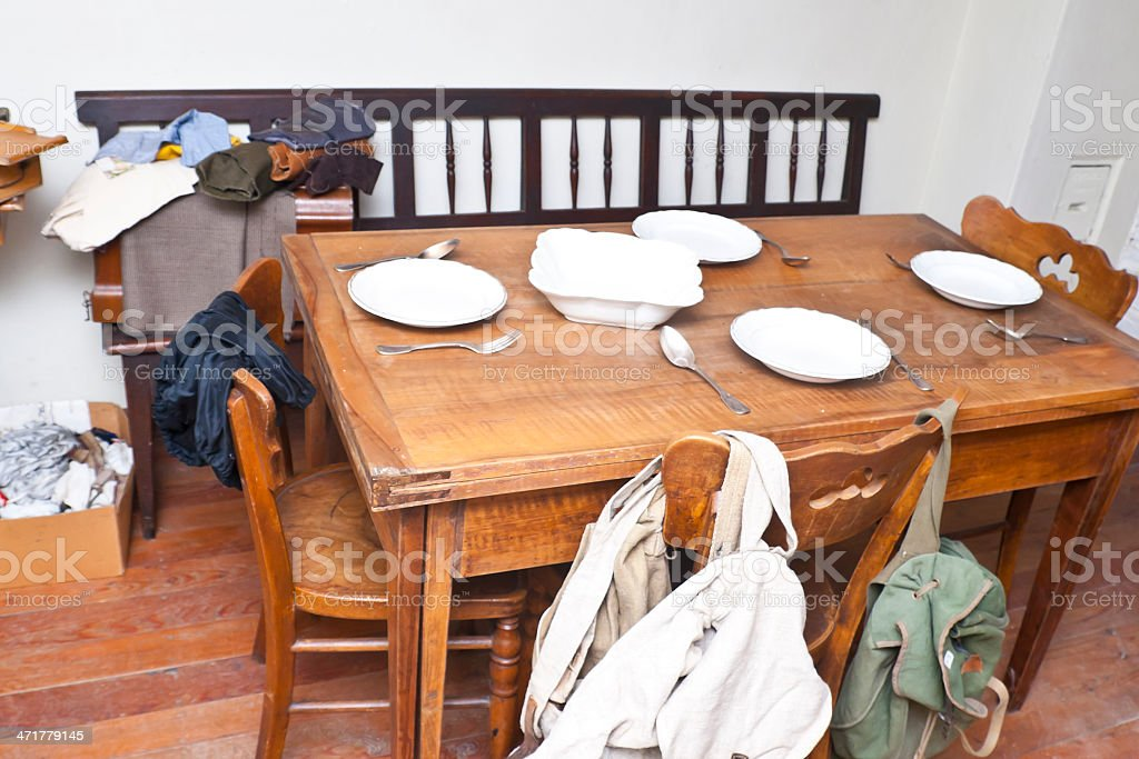 Old Farmhouse Dining Table Stock Photo More Pictures Of Abandoned