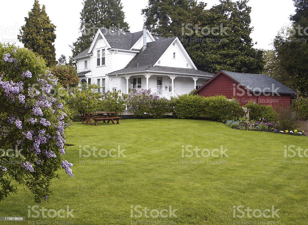 Old Farmhouse stock photo
