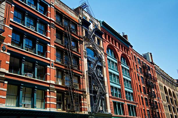 Old Fashion 19th Century Architectural Cityscape, TriBeCa, New York City stock photo
