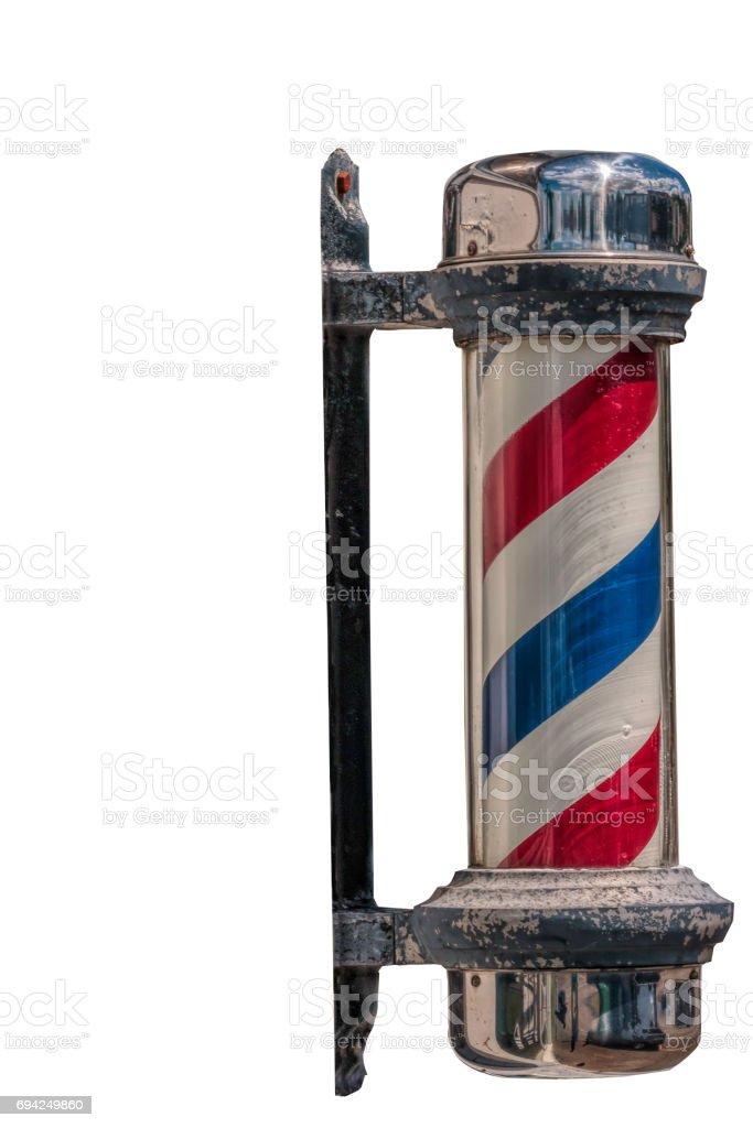 Old Fashion Barber Pole Cutout stock photo