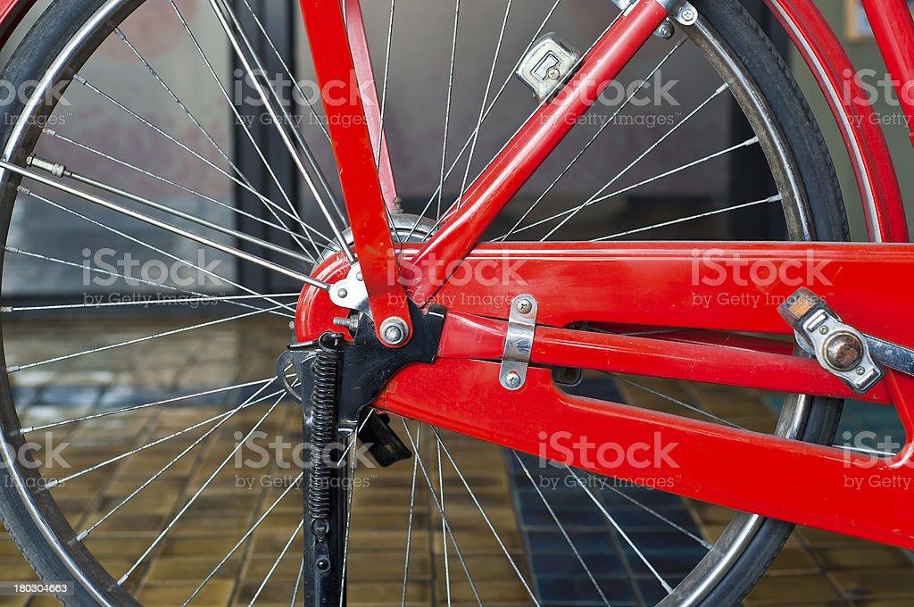Old fashion bicycle wheel. royalty-free stock photo