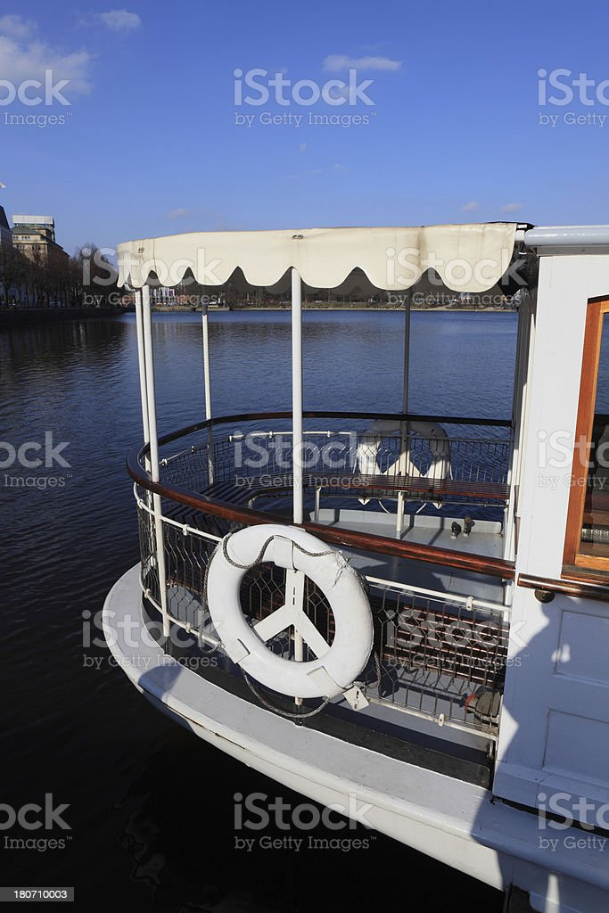 old fashion boat on a lake royalty-free stock photo