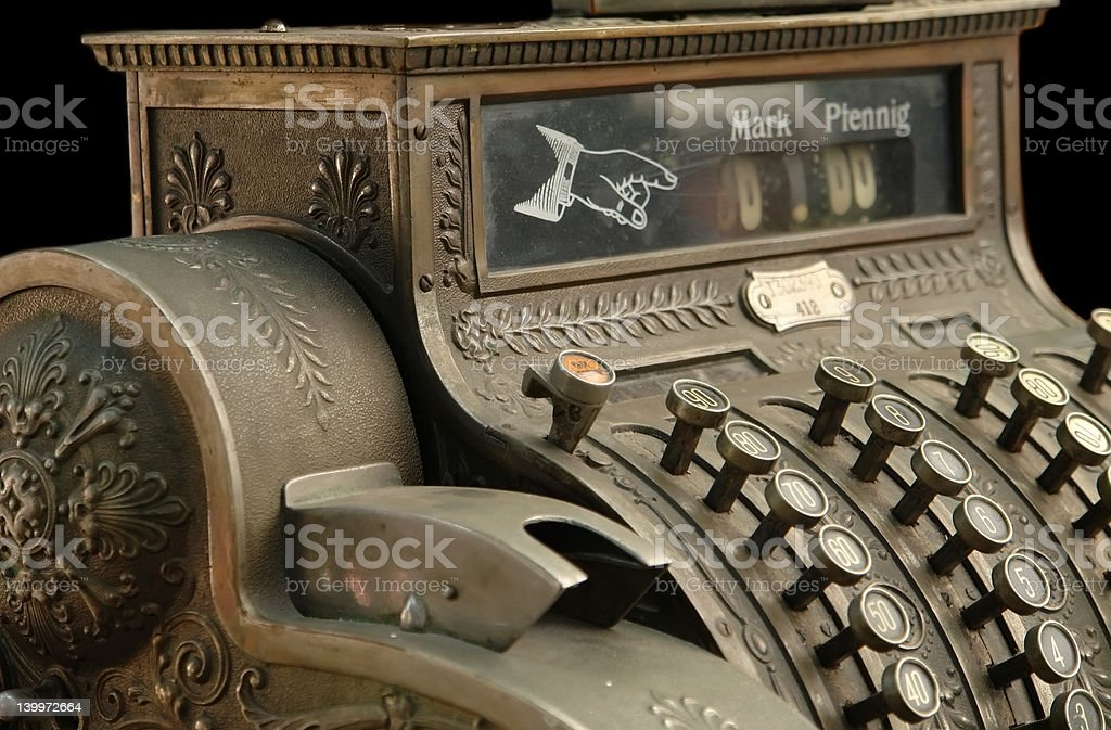 Old Fashion Cash Register stock photo