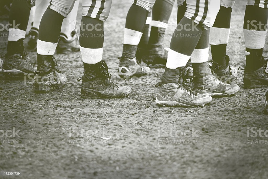 old fashion football stock photo