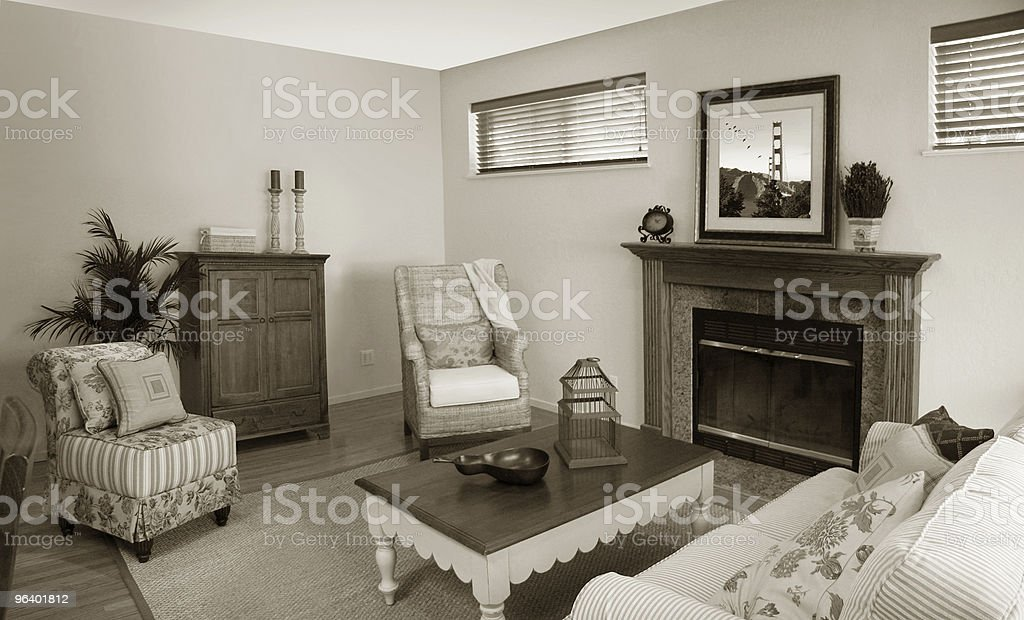 Old fashion living room - Royalty-free Armchair Stock Photo