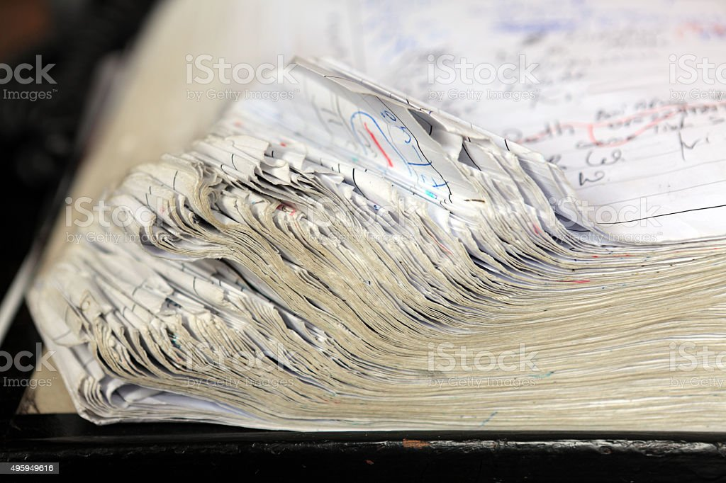 old fashion notebook stock photo