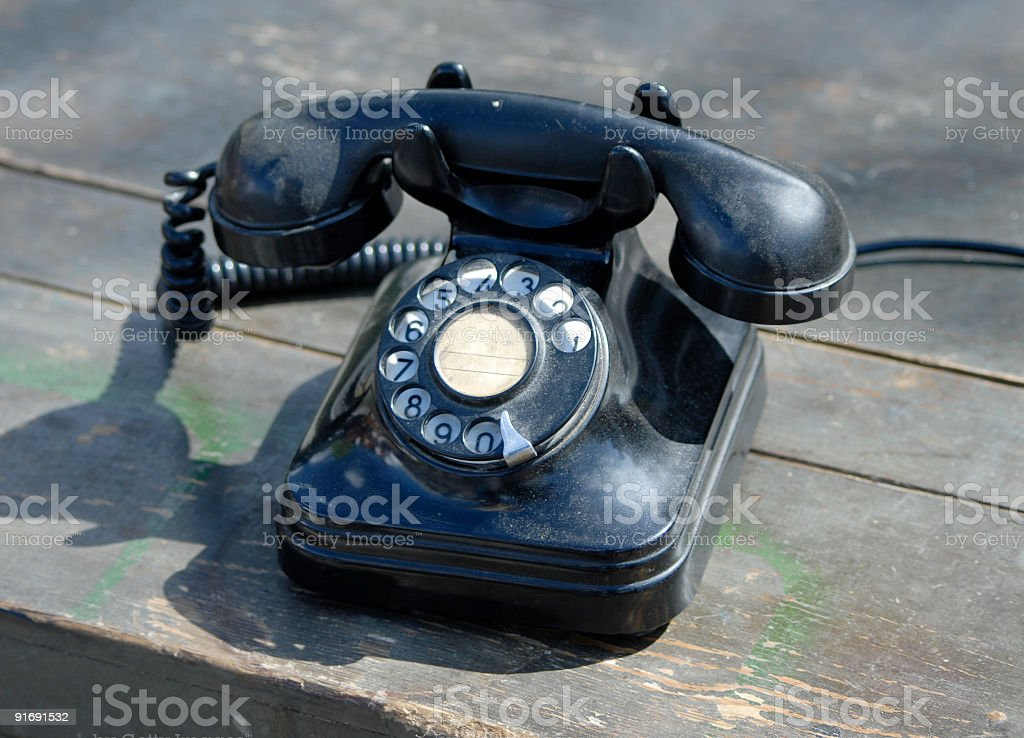 Old fashion telephone stock photo