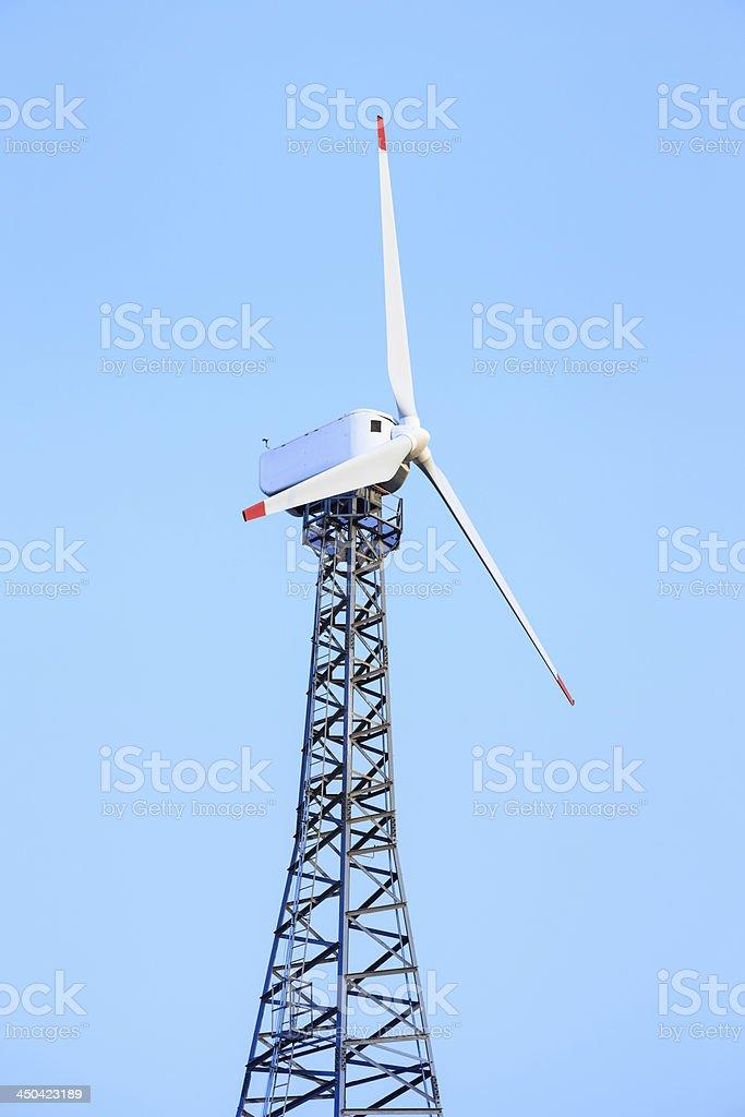 Old fashion wind turbine generator royalty-free stock photo